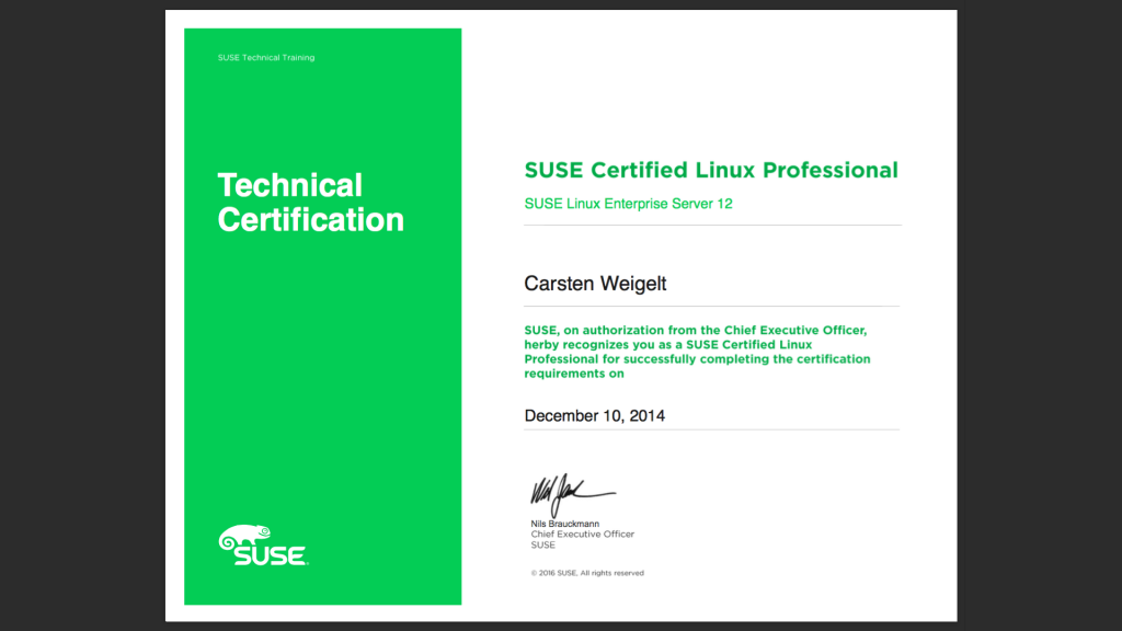 SUSE Certified Linux Professional